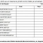 Kontrol listesi(çeteleme aracı-check list)