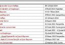 MEB Okullar İş Günü Takvimi 2014-2015