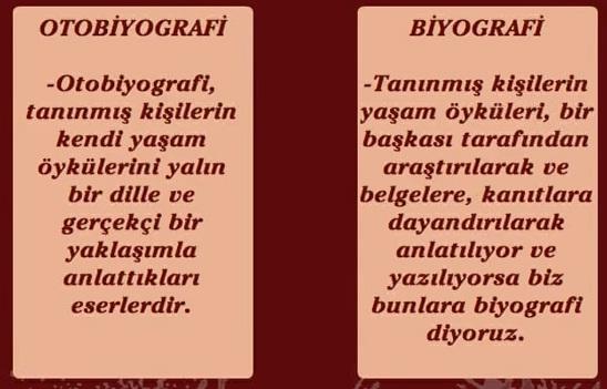 biyografi - otobiografi