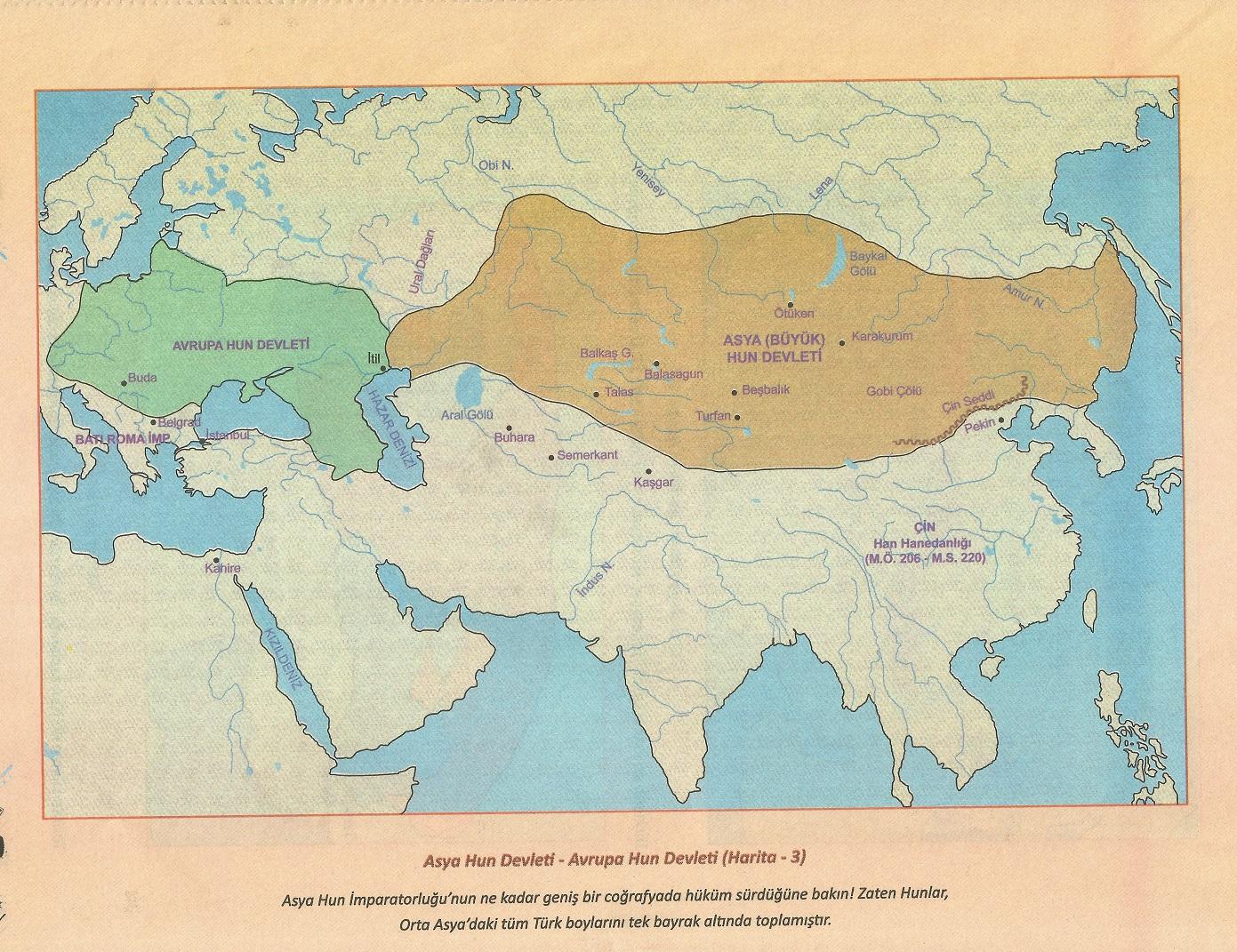 Asya Hun (Büyük Hun) Devleti – (MÖ 220-MS 48)